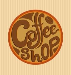 Hand Drawn Coffee Shop Logo vector image