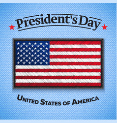 happy presidents day greeting card usa flag vector image