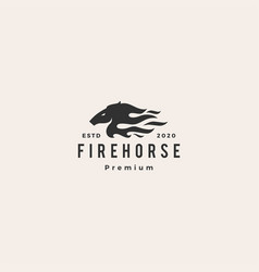 horse fire logo icon hipster retro vintage vector image