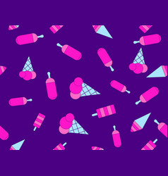 Ice cream seamless pattern multi-colored ice vector