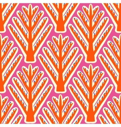 Ikat ethnic pattern with Kazakh motifs vector