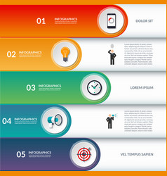 Infographic options banner vector