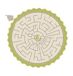 kids labyrinth vector image