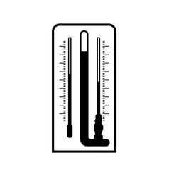 Laboratory psychrometer wet-and-dry-bulb vector