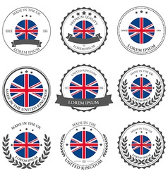 Made in the UK seals badges vector image