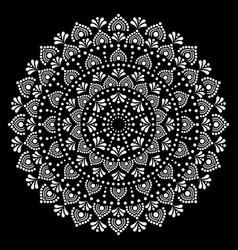 Mandala ethnic australian dot paiting style vector