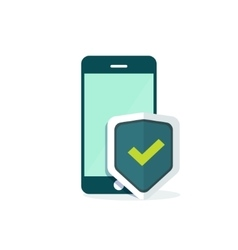 Mobile phone security shield protection vector