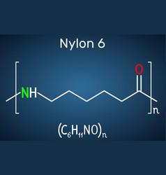 Nylon 6 or polycaprolactam polymer molecule vector