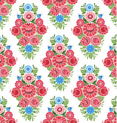 old seamless texture with stylized floral ornament vector image