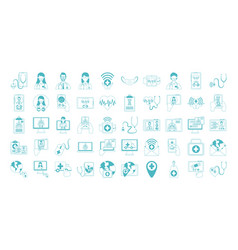 online doctor physician technology consultant vector image