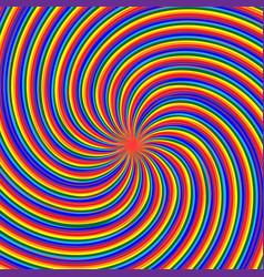 Optical a maelstrom rainbow vector