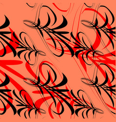 pattern of black and red lines and vector image