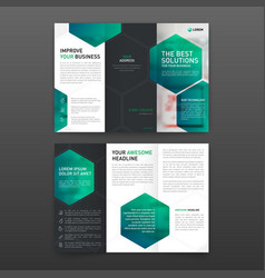 Pharmaceutical brochure tri fold template layout vector