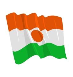 Political waving flag niger vector