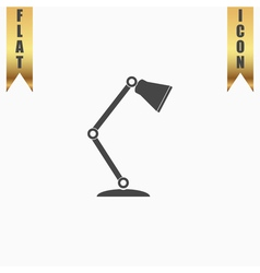 Reading-lamp flat icon vector