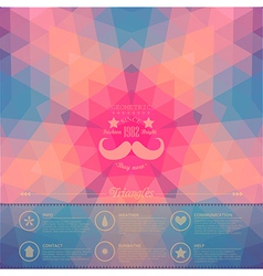 Retro star backdrop Mosaic hipster background made vector image