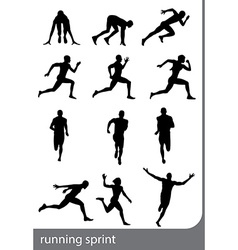 Running sprint man vector