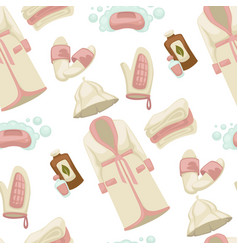 Sauna equipments and elements gown with slippers vector