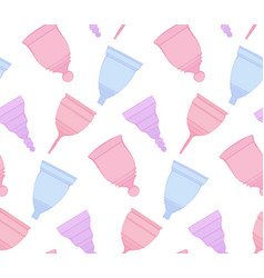 seamless gentle pattern with colorful outline vector image