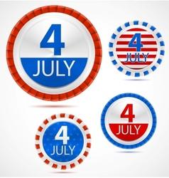 Set 4th july labels vector