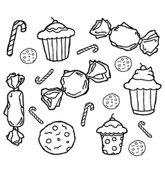 Set candy vector