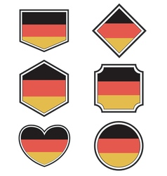 Set of Germany flags and hearts vector image
