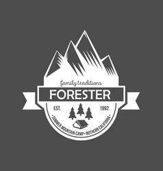 Set of vintage mountain explorer labels vector