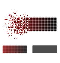 shredded pixelated halftone remove icon vector image