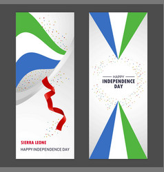 sierra leone happy independence day confetti vector image