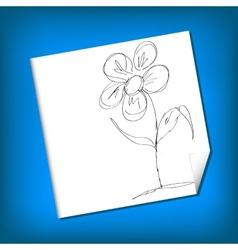 Sketch - camomile vector
