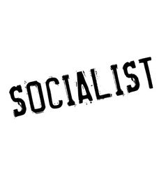 Socialist rubber stamp vector