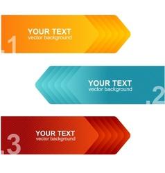 Speech templates for text orange blue vector