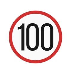 Speed limit 100 vector image