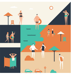 Summer holiday - flat design style vector