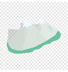 swiss alps isometric icon vector image