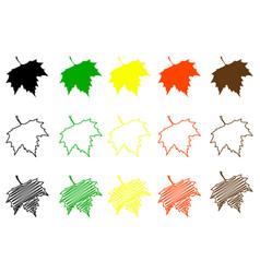 sycamore leaf color set vector image