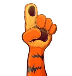 Tiger Raise Hand vector image