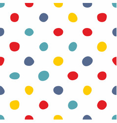 tile pattern with pastel hand drawn dots on white vector image