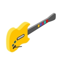 Toy electric guitar icon isometric 3d style vector