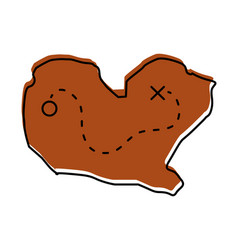 Treasure map game icon vector