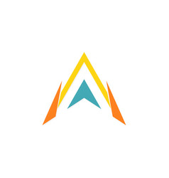 triangle letter a arrow logo vector image
