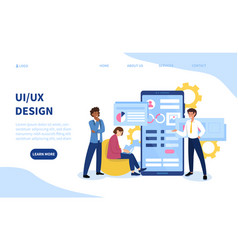 Ui or ux design template for business vector