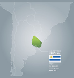 Uruguay information map vector