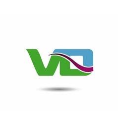 VD logo vector image vector image