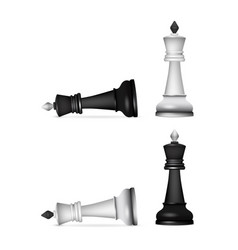 victory chess figures chessmen isolated on white vector image