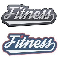 Vintage fitness label and tag vector