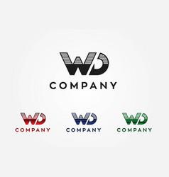 W d logo vector