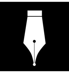 White Pen icon vector