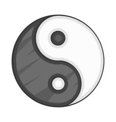 Ying yang icon cartoon style vector image