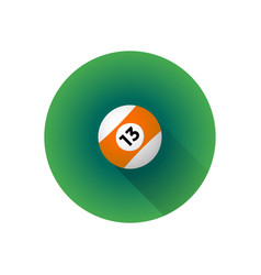 flat color billiard ball vector image vector image